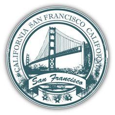 "San Francisco California Travel Grunge Rubber Stamp Car Bumper Sticker  5'' x 5"" | Collectibles, Transportation, Automobilia | eBay!"