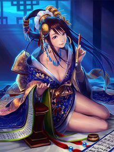『蔡文姫』 「大戦乱!!三国志バトル」 | GALLERY | GRAPHIC LOOPS