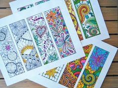 Marque-pages couleur trois Pages signets par BrushStrokeOrnaments