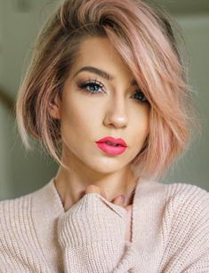 Best Balayaged Short Bob Haircuts for Every Women in 2019 Prom Hairstyles For Short Hair, Popular Short Hairstyles, Hairstyles Haircuts, Trendy Hairstyles, Office Hairstyles, Anime Hairstyles, Hairstyles Videos, Bob Haircuts, Homecoming Hairstyles