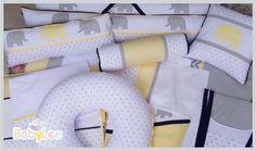 Kit berço elefantinho com tecido chevron 12pç por R$996,00