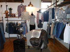 Industrial Boho Modest Boutique - My Saturday Sightings. Modest Boutique, Boho Boutique, Cute Modest Outfits, Wardrobe Rack, Jeans, Blog, Furniture, Home Decor, Decoration Home