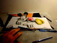 jocundist: amazing 3d sketchbook drawing