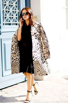 LBD with a wild coat... will be an easy way to effortlessly make a statement