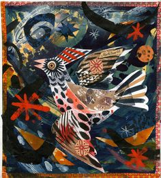 'Flight VII' by Mark Hearld (collage) Art Assignments, Glasgow School Of Art, Bird Art, Bird Feathers, Artist At Work, Collage Art, Printmaking, Paper Art, Art Projects