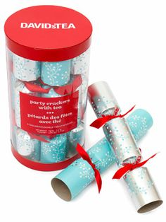 11 fabulous gifts for a healthy holiday - Slide 1 - Canadian Living- David's Tea Christmas crackers Christmas Gifts For Him, Christmas Time Is Here, Christmas Birthday, Birthday Traditions, Holiday Traditions, Tea Riffic, Davids Tea, Christmas Crackers, Edible Gifts