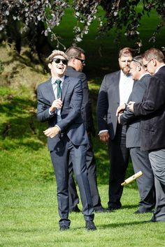 Niall Horan at Louis's mom's wedding