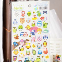 Cute Owls Set – Decoration Stickers by FasyShop on Etsy