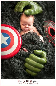 Newborn Superhero Themed Portrait Session in Downey, Ca