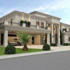 Dream House Interior, Luxury Homes Dream Houses, Dream Home Design, Modern House Design, Classic House Design, Modern Houses, House Interior Design, Modern Mansion, Dream Homes