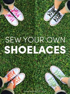 Sew Your Own Shoelaces Love Sewing, Sewing For Kids, Diy For Kids, Sewing Hacks, Sewing Tutorials, Sewing Projects, Sewing Patterns, Free Tutorials, Sewing Ideas