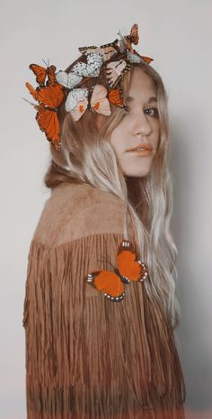 Meadow Monarch Butterfly Fairy Crown by Wild & Free Jewelry. Available at www.wildandfreejewelry.com