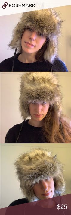 fc62cc91980 H M • faux fur trapper ear flap hat Great pre-owned condition! Tag says
