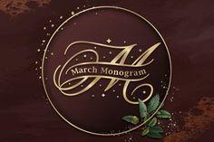 March Split Monogram #monogram #splitmonogram #alphabetmonogram