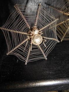 Set of 3 Victorian Silver Spider Web Place by GothicRoseAntiques, $160.00