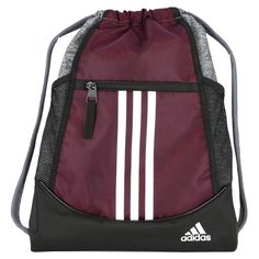 b6d7b59364 Details about adidas Alliance Sack Pack Drawstring Gym Bags Unisex  Backpacks Sports Sackpacks