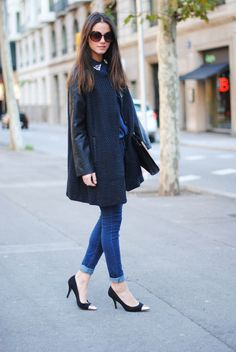 Throw your wool coat on a pair of jeans and heels and away you go! http://www.facebook.com/WeLoveWool