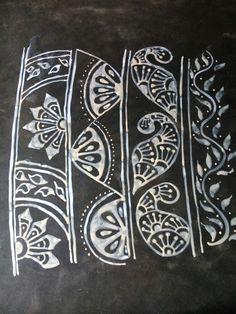 Alpona or Kolam Borders, video available on my youtube channel Designed by Koyel, go check it out Alpona Design, Digital Art Fantasy, Beautiful Rangoli Designs, Border Design, Tribal Art, Mandala Design, Indian Art, Diwali, Folk Art