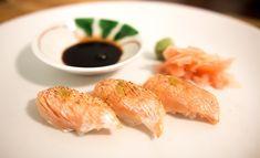 How to make Aburi Sushi with Yuzu Pepper 炙りサーモン鮨-柚子胡椒乗せ-