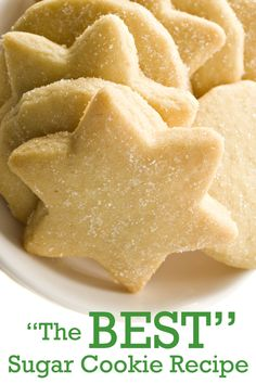 YUM! The BEST sugar cookie recipe you will ever try! Recipe and instructions for your next holiday party or Open House.