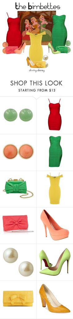 """The Bimbettes"" by oh-my-disney ❤ liked on Polyvore featuring BillyTheTree, Moschino, Jane Norman, Carolee, Christian Louboutin, Melie Bianco, Anne Klein, disney, disneybound and BeautyandtheBeast"