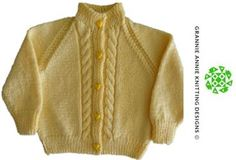 Toddler's Cardigan knitting pattern