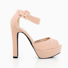 Pleated Open Toe Ankle Strap Platforms