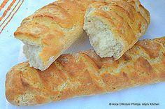 'Crusty Yogurt Sourdough Peasant Bread'    Great for sopping and dipping...just tear off a big hunk!    www.allyskitchen.com