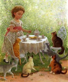 Cat Tea Party by Ruth Sanderson - Ruth has illustrated 80 books and has written and illustrated 12 of them.