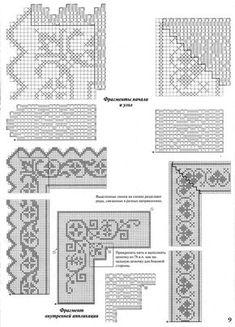Crochet Edging Patterns, Filet Crochet Charts, Crochet Borders, Crochet Cross, Cross Stitch Patterns, Crochet Doilies, Crochet Lace, Fillet Crochet, Cross Stitch Books