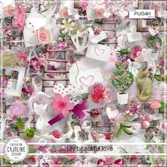 Scrap kit my fabulous love 83 png Beautiful Love, Views Album, Digital Scrapbooking, Overlays, Floral Wreath, Gift Wrapping, Kit, Table Decorations, Cards