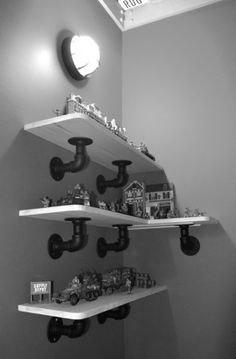 Action Jackson - Galvanized Pipe Shelf Brackets | Kidtropolis [imagine.create.transform]