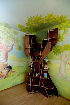 "We created this ""hollow tree"" to be spacious enough for the easy and aesthetic storage of the toys. www.nayadesign.eu"