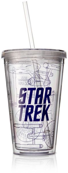 ThinkGeek :: Star Trek Acrylic Travel Cup
