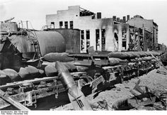 View of Stalingrad Tractor Factory shortly after German capture, Stalingrad, Russia, 16 Nov 1942