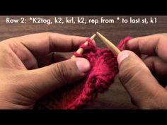 The Vertical Herringbone Stitch :: Knitting Stitch #70