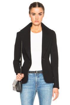 James Perse Shawl Collar Blazer in Black   FWRD