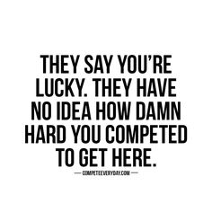 Your only luck is your #hustle