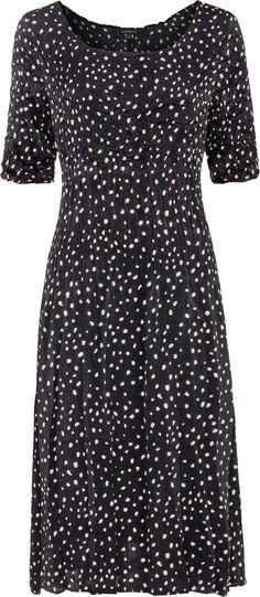 Spot tri pleat dress D2050