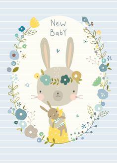 Nikki Upsher 'Ansichtkaart New Baby Blauw'