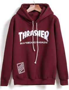 Hooded THRA.SHER Print Sweatshirt 10.99
