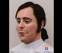 This life-sized model of Robert Burns' head was reconstructed by forensic scientists from the University of Dundee in 2013 using Burns' skull, as well as surviving portraits and a silhouette made during The Bard's lifetime.