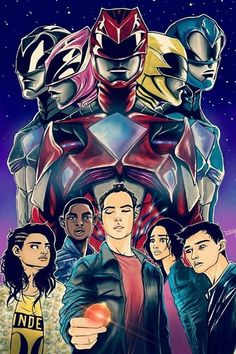 Power Rangers by @etchman on Instagram