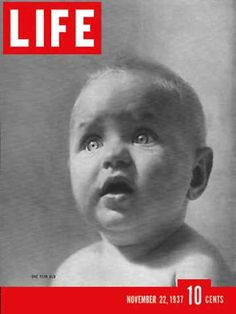 Life Magazine Cover Copyright 1937 LIFE Is One Year Old - www.MadMenArt.com…