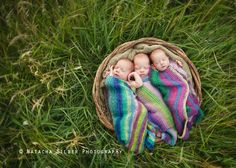 I also want all of these crochet patterns - :) newborn triplets photography