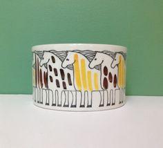 Vintage Upsala Ekeby Gefle Horse Ceramic Dish / Pottery Planter Made in Sweden