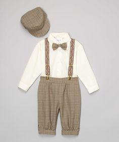 LA Sun Brown Plaid Button-Up Set - Infant & Toddler | zulily