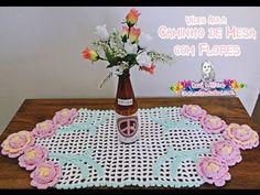 Caminho de Mesa com Flores de crochê - Desi Winters - YouTube
