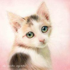 愛しのお姫様。 Cat 2, Kitty Cats, Cats And Kittens, Big Hugs, All About Cats, Cat Drawing, Animal Paintings, Dog Art, I Love Cats