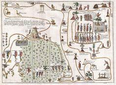 1704 Gemelli Mapa da migração asteca de Aztlan para Chapultapec - Geographicus - AztecMigration-Gemelli-1704.jpg